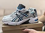 Чоловічі кросівки Asics (бежево-білі з блакитним), фото 4