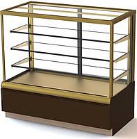 Витрина кондитерская Carboma Cube Люкс ВХСв-1,3д (Карбома Куб) стеклопакеты