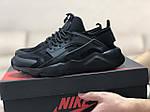 Чоловічі кросівки Nike Air Huarache (чорні), фото 2