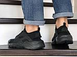 Чоловічі кросівки Nike Air Huarache (чорні), фото 4