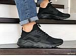 Чоловічі кросівки Nike Air Huarache (чорні), фото 3