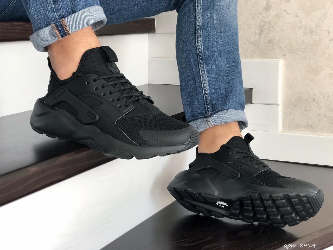 Чоловічі кросівки Nike Air Huarache (чорні)