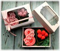 """Набор мыла  """"8 и букет тюльпанов"""", фото 1"""
