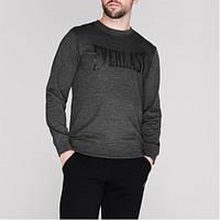 Оригинальная Толстовка Everlast Long Length Sweatshirt Mens - Grey/Black XL