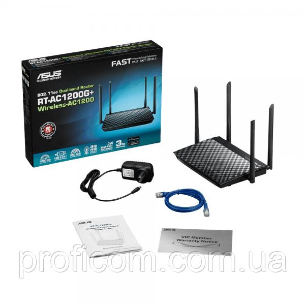 ASUS RT-AC1200G+ Dual Band AC1200 Gigabit Router USB 2.0
