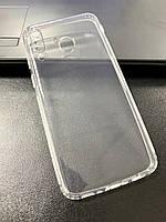 Чехол для Samsung A40S / M30 силиконовый прозрачный (с заглушками)