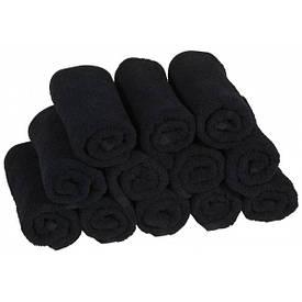 Полотенце махровое 40*70-Черный,500 гр/м² (20/2)