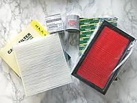 Комплект фильтров Nissan Almera Classic 1.6i (фильтр масляный, воздушный, салона) Ниссан Альмера Классик