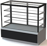 Витрина кондитерская Carboma Cube Люкс ВХСв-1,3д Техно (Карбома Куб) стеклопакеты