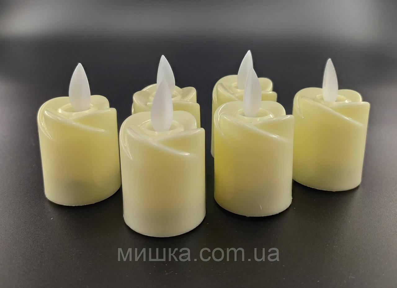 LED свічки з імітацією живого полум'я, ефект вітру!
