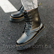 Женские ботинки в стиле Dr.Martens Jadon   Внутри Мех!