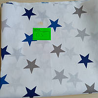 Ранфорс синие звезды 220*50см (0.5м)