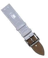 Ремешок для часов из натуральной кожи лаковый с тиснением размер 22 мм