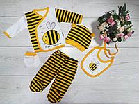 """Комплект для новорожденного """"Пчелка"""" 56-62 см"""
