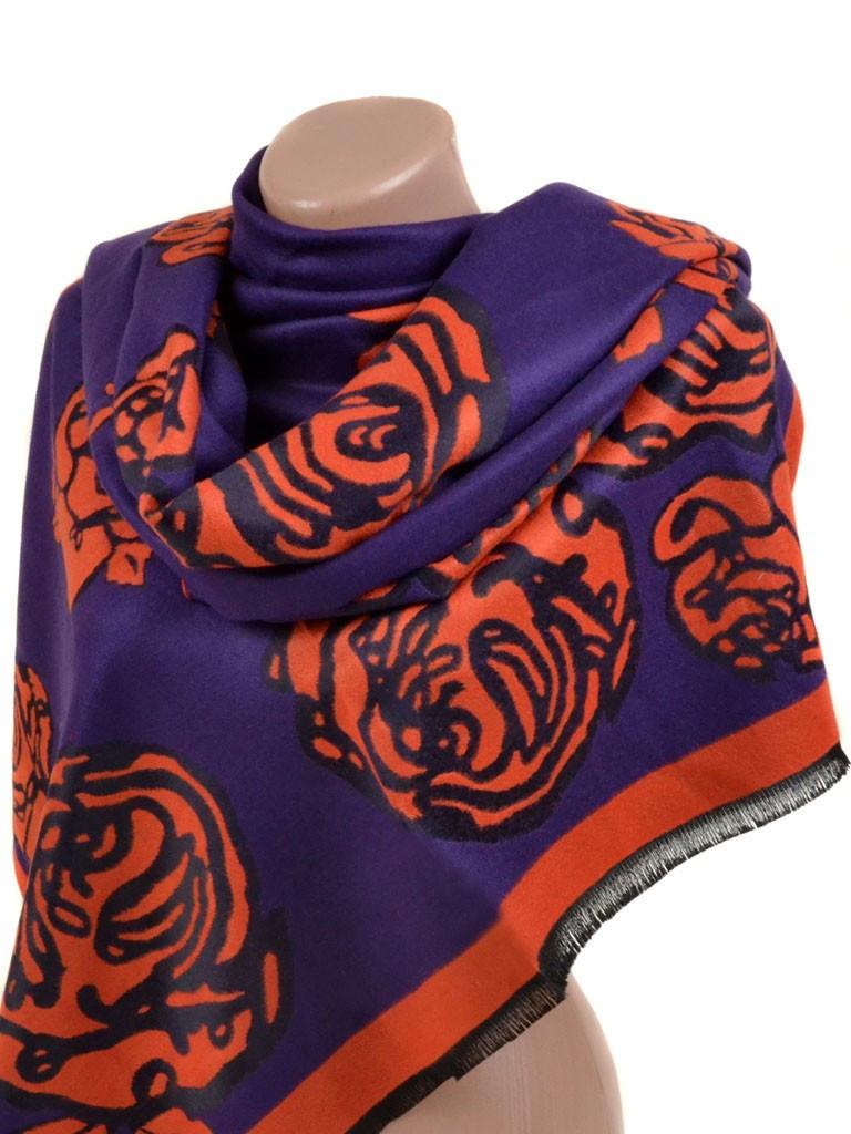 Палантин кашемир 32061 purple Распродажа