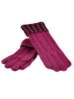 Перчатка Женская вязка G-186 роз Распродажа