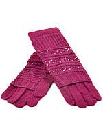 Перчатка Женская вязка K-308B роз Распродажа