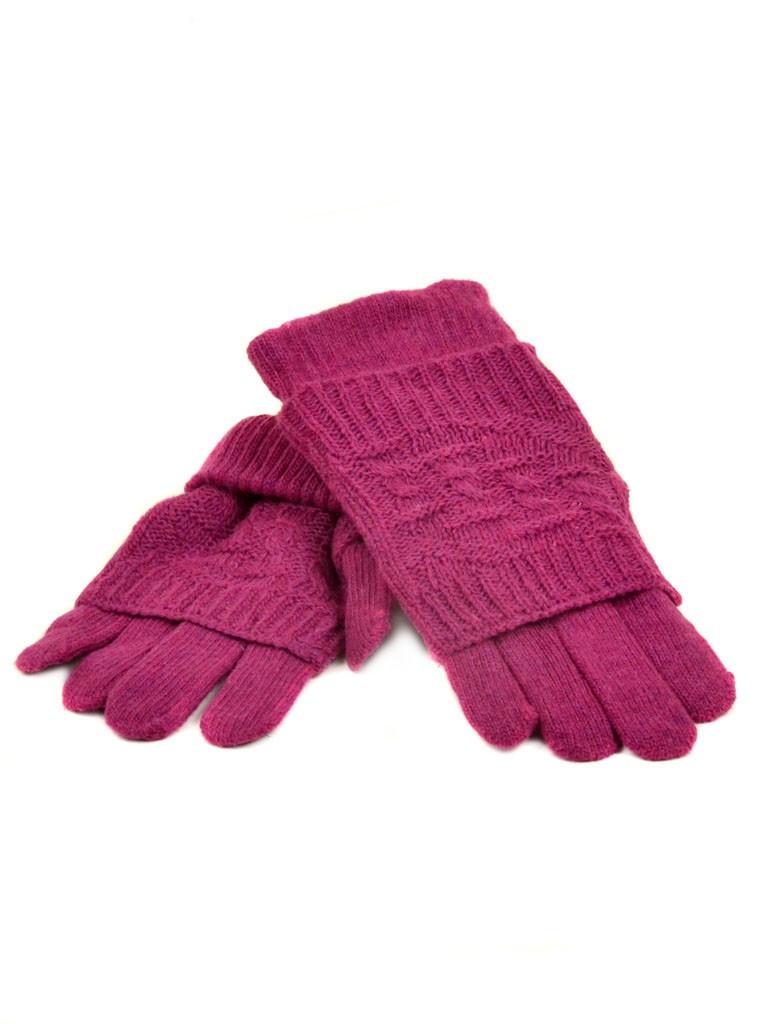 Перчатка Женская вязка K-53 роз Распродажа