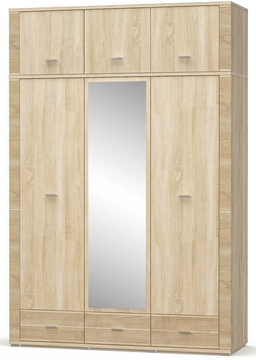 Гресс Шкаф 2Д1Дз3Ш + Надстройка МЕБЕЛЬ СЕРВИС (160.8х55х239.2 см)