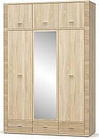 Гресс Шкаф 2Д1Дз3Ш + Надстройка МЕБЕЛЬ СЕРВИС (160.8х55х239.2 см), фото 1