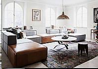 Модульний диван з окремих пуфів