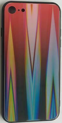 """Силіконовий чохол """"Скляний Shine Gradient"""" iPhone 7/8 (Ruby Red) №16, фото 2"""