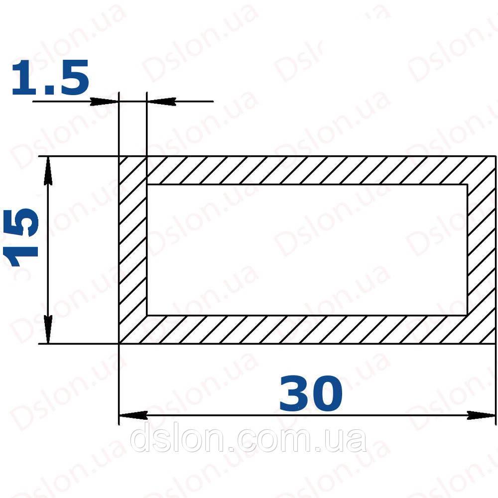Труба прямоугольная 15*30*1,5 мм.