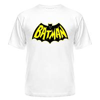 Футболка с надписью и лого Batman из хлопка, фото 1
