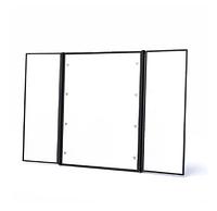 Трехстороннее складное зеркало для макияжа! Настольный женский аксессуар из трех зеркал с подсветкой!