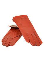 Перчатка Женская кожа (Ш) F23 мод1 оранж st2 Распродажа