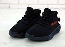 Мужские кроссовки в стиле Adidas Yeezy Boost 350 V2 Black, фото 3