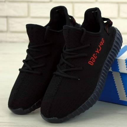 Мужские кроссовки в стиле Adidas Yeezy Boost 350 V2 Black, фото 2