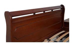 Кровать двуспальная из массива ольхи Флора Евродом, цвет орех, фото 2