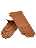 Перчатка Женская кожа (Ш) F23 мод1 т.беж st21 Распродажа