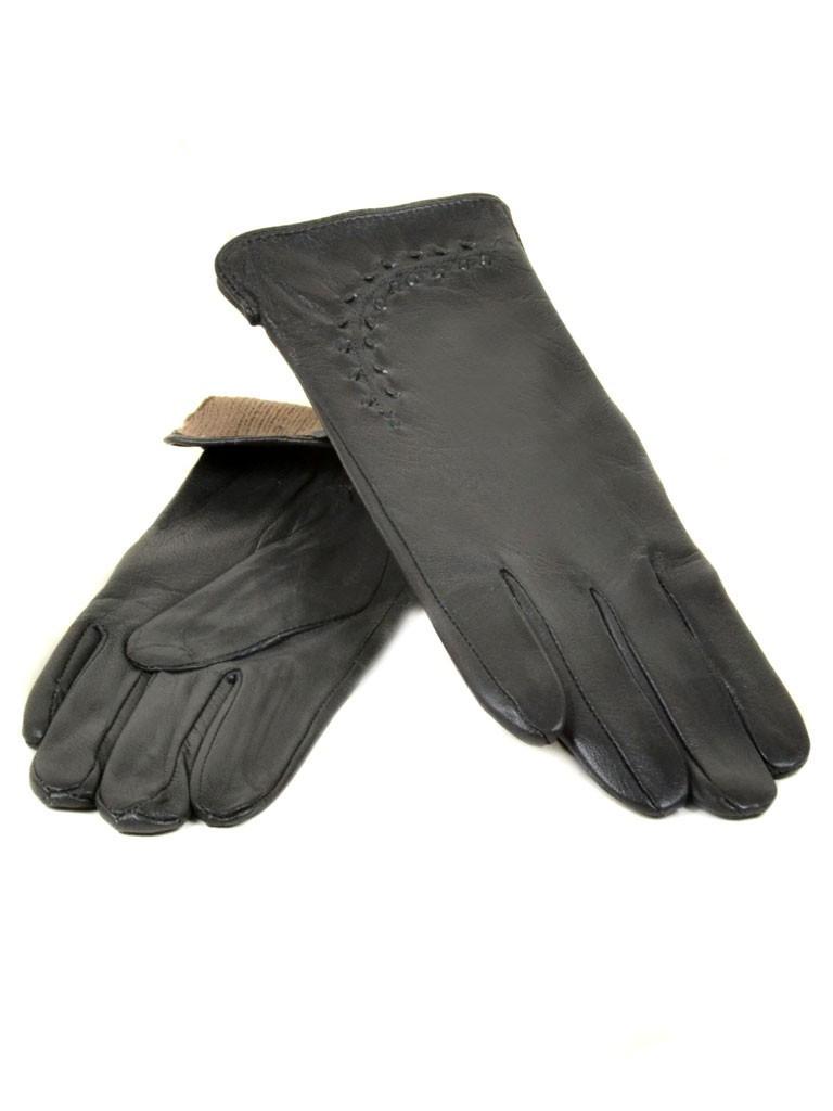Перчатка Женская кожа (Ш) F23 мод1 т.сер st30 Распродажа