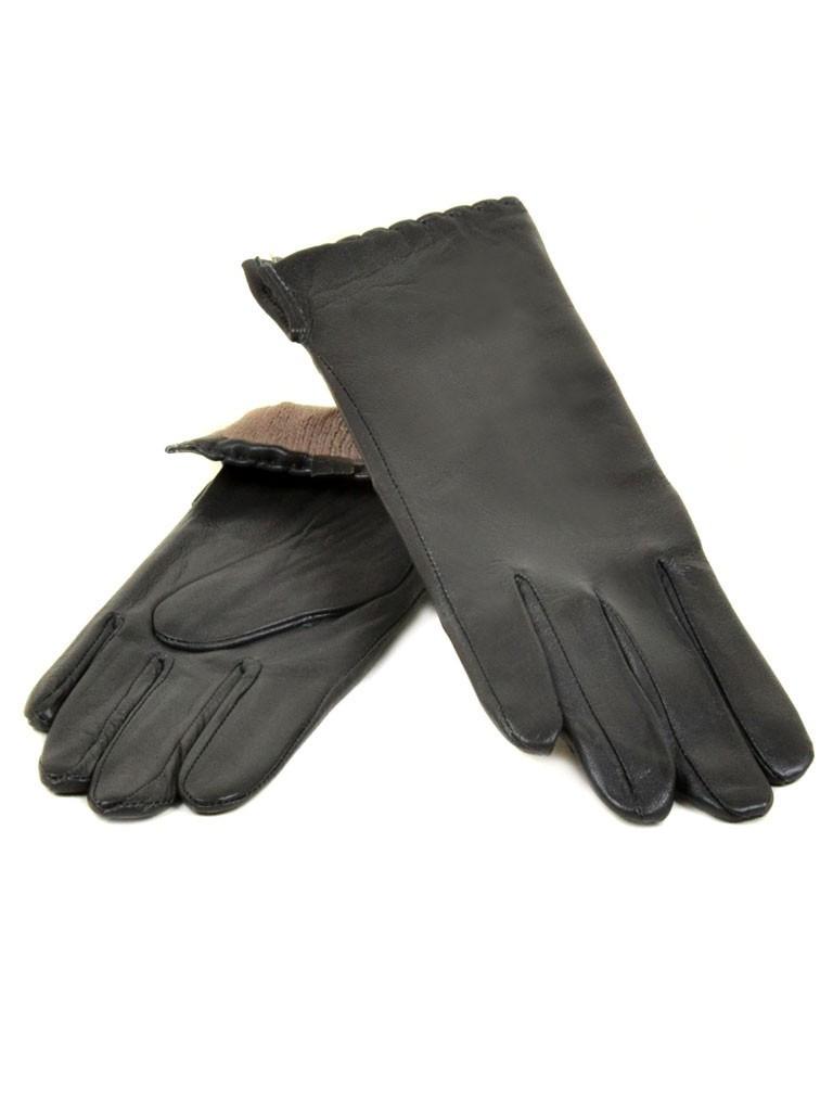 Перчатка Женская кожа (Ш) F23 мод7 т.сер st30 Распродажа