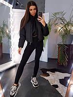Дутая куртка черного цвета, фото 1