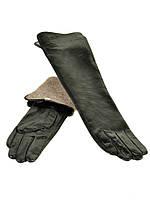 Перчатка Женская кожа F25/17 40см мод1 black шерсть Распродажа