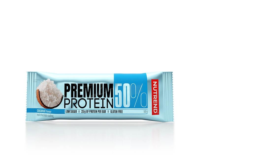 Протеїнові батончики Nutrend PREMIUM PROTEIN 50 BAR 16х50g