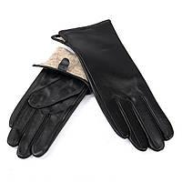Перчатка Женская кожа F31/19 мод2 black шерсть