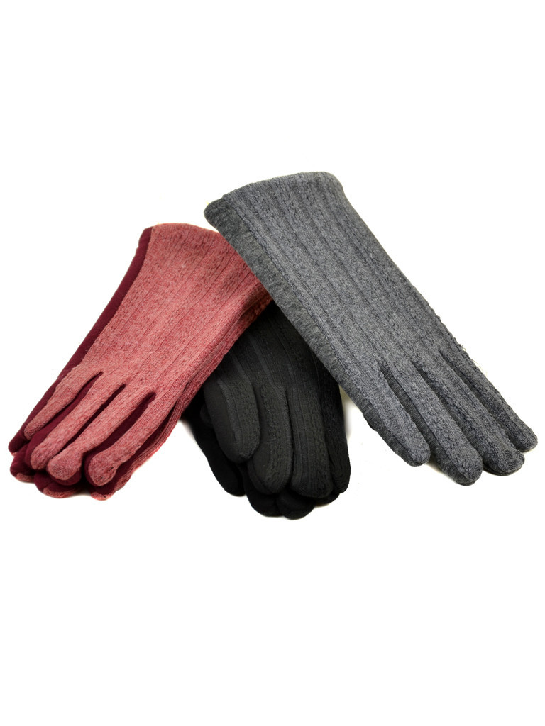 Перчатка Женская стрейч F19/17 мод4 color mix плюш Распродажа