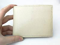 Кожаный мужской кошелек ручной работы цвета слоновой кости TsarArt с креплением на пояс