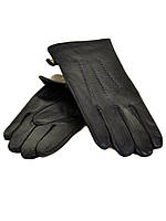 Перчатка Мужская кожа M21/17 мод3 black шерсть