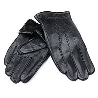 Перчатка Мужская кожа M21/19-2 мод4 black шерсть