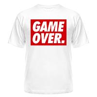 Стильная молодёжная футболка с надписью Obey Game Over