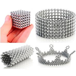 Неокуб Магнитный конструктор Neocube (серебро) 5 мм, интерактивная игрушка, нео куб, магнитные шарики, неодим, фото 2