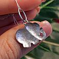 Розовый Слон серебряный кулон - Кулон Слоник серебро, фото 4