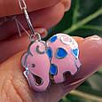 Розовый Слон серебряный кулон - Кулон Слоник серебро, фото 3