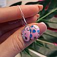 Розовый Слон серебряный кулон - Кулон Слоник серебро, фото 2