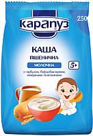 Каша молочная Карапуз пшеничная с тыквой, бифидобактериями и витаминами 250 г  с 5 месяцев, мягкая упаковка